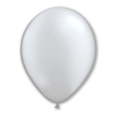 """Шарик 11"""" Металлик Silver 1102-0895"""