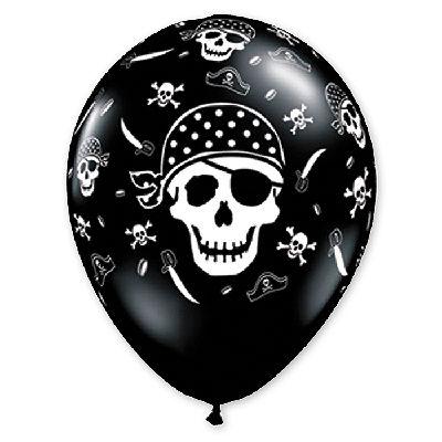 "Шелк 11"" Пиратский череп Onух Black 1103-0502"