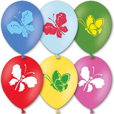 "Шар с рисунком 12"" Бабочки 1103-0513"