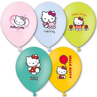 Шары с многоцветным рисунком Hello Kitty 1103-1090