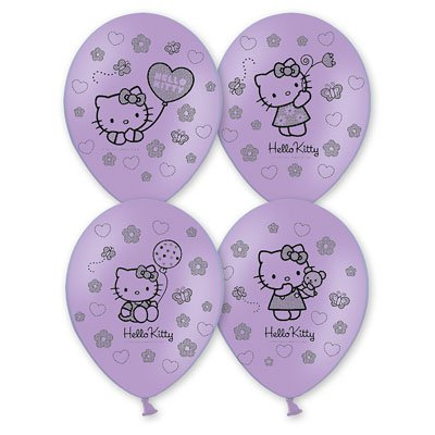 "Шары шелк пастель 14"" Hello Kitty 1103-1091"