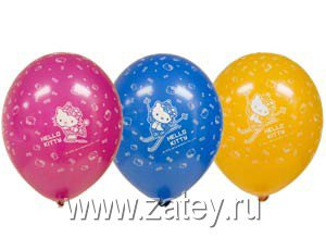 "Шары шелк пастель 14"" Hello Kitty ICE 1103-1162"
