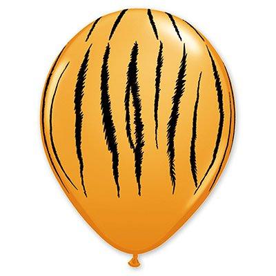 """Шары 11"""" Полоски тигр Orange, Q 1103-1194"""