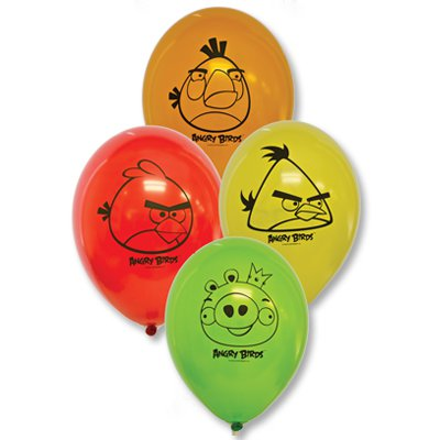 "Шары с рисунком 12"" Angry Birds 1103-1219"