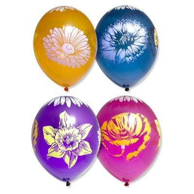 "Шары шелк кристалл 14"" Цветы, 5 цветов 1103-1468"