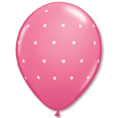 """Шары шелк 11"""" Горошек мелкий розовый 1103-1492"""