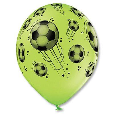 """Латексный шар """"Футбольный мяч"""", шелк пастель 14""""  1103-1621"""