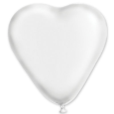 """сердце 10"""" пастель Белое 1105-0005"""