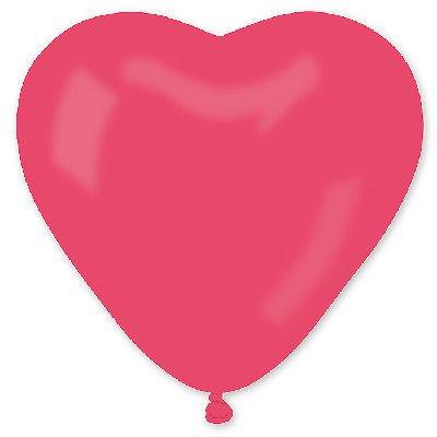 """сердце 25"""" пастель Красное 1105-0045"""