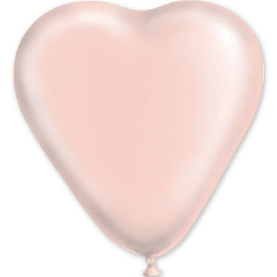 """сердце 10"""" пастель Розовое 1105-0080"""