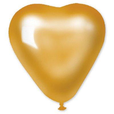 """Сердце 5"""" Металлик Золотое 1105-0145"""