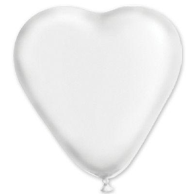 """Сердце 16"""" Пастель Белое 1105-0163"""