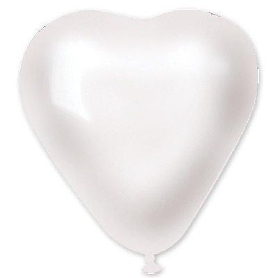"Сердце 5"" Металлик Белое 1105-0165"