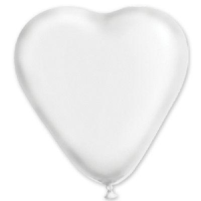 """Сердце 5"""" Пастель Белое 1105-0180"""