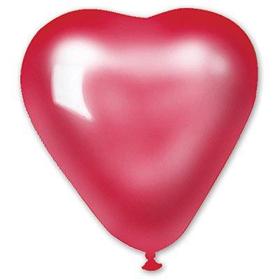 """Сердце 10"""" Металлик Красное/Ит 1105-0271"""
