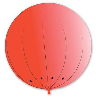 Гигант сфера 2,1 м красный/G 1109-0304