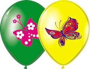 Набор шаров рис Бабочки 3цв 36см, 3шт 1111-0467