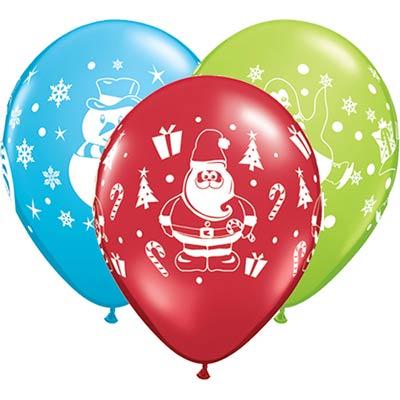 Набор шариков шелк Снеговик, Санта 6 шт Q 1111-0660