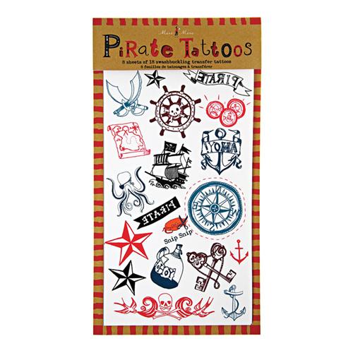 """Детские татуировки для мальчиков, девочек """"Пираты"""" 113680"""