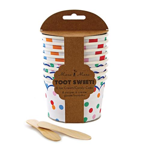 """Бумажные стаканчики для мороженого с ложкой """"Тут Свит"""" 113950"""
