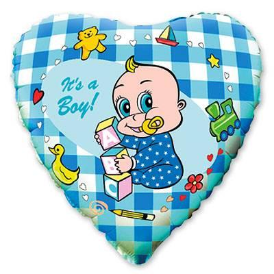"""Шарик 9"""" Младенец мальчик 1201-0153"""