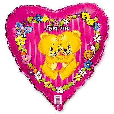 "Шарик 18"" Love Me Медвежата 1202-0412"