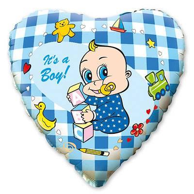 """Шарик 18"""" Младенец мальчик 1202-0461"""