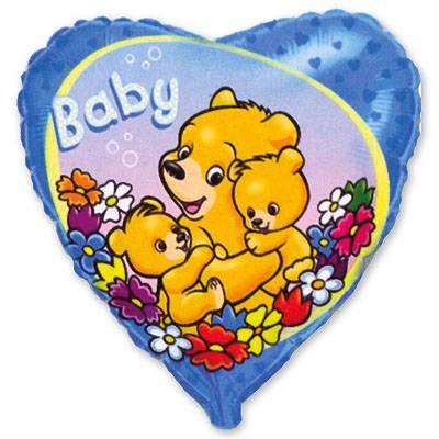 """Шарик 18"""" Baby Мишки на голубом 1202-0971"""