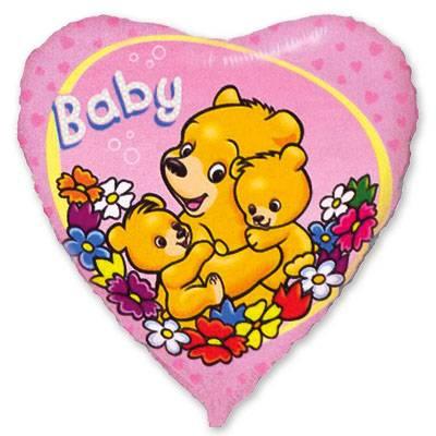 """Шарик 18"""" Baby Мишки на розовом 1202-0972"""