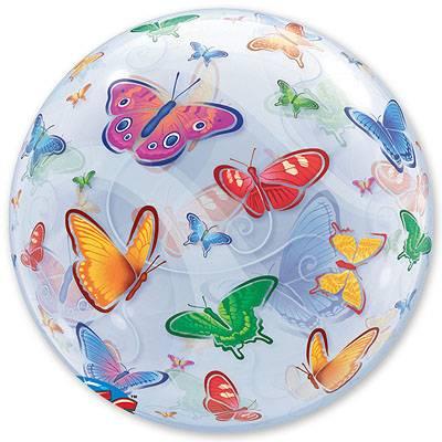 """Шарик BUBBLE 22"""" Бабочки 1202-1082"""