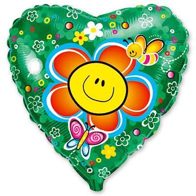 """Шарик 18"""" Цветок улыбка 1202-1090"""