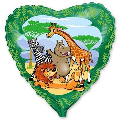 """Шарик 18"""" Животные в джунглях 1202-1096"""