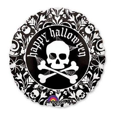 """Шарик 18"""" Хэллоуин Череп с орнаментом 1202-1132"""