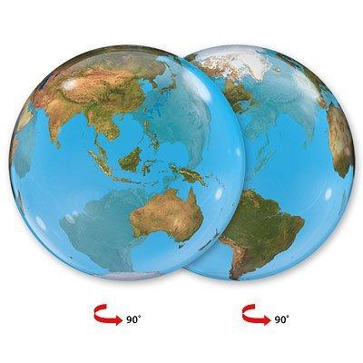 """Шарик BUBBLE 22"""" Планета Земля 1202-1159"""