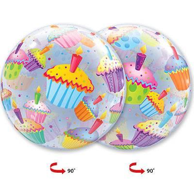 """Шар Bubble 22"""" Кексы разноцветные, 56 см 1202-1476"""