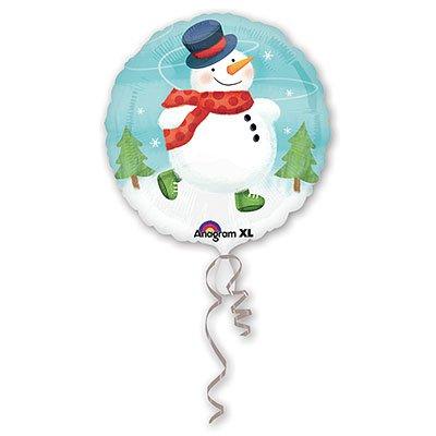 "Шар 18"" Снеговик с шарфом, 46 см 1202-1507"