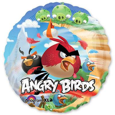 Шар 18 HeSAVER Angry Birds, 45 см 1202-1527