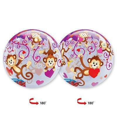 "Шар Bubble 22"" Мартышки с сердечками 1202-1541"