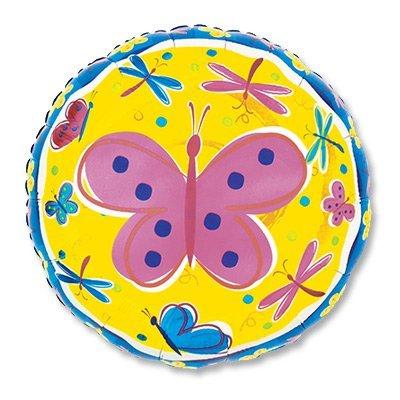 """Шар 18"""" Бабочки и стрекозы 1202-1547"""