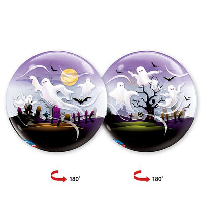 """Шар BUBBLE 22"""" Привидения, 56 см 1202-1613"""