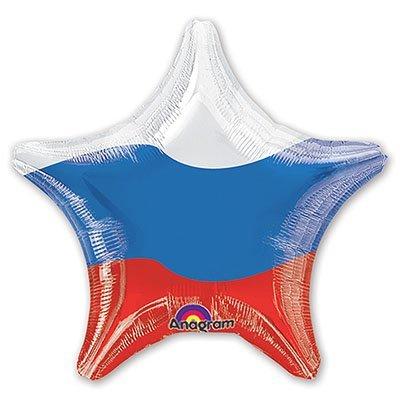 "Шар 18"" Триколор Звезда 1202-1640"