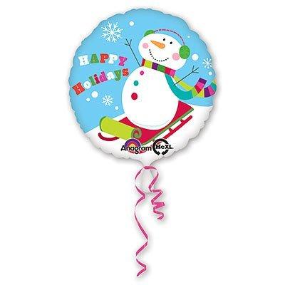 """Шар 18"""" Снеговик радостный, 43 см 1202-1656"""