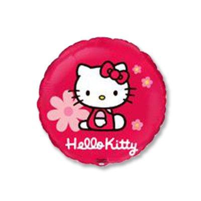 """Шар 18"""" Hello Kitty в цветочках 1202-1790"""