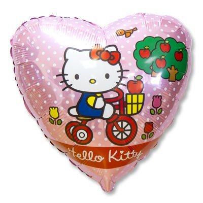 """Шар 18"""" Hello Kitty на велосипеде 1202-1791"""