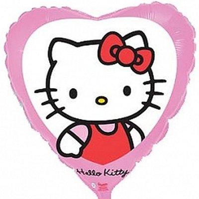 """Шар 18"""" Hello Kitty в сердце розовом 1202-2036"""