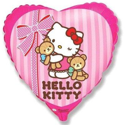 "Шар 18"" Hello Kitty с медвежатами 1202-2038"