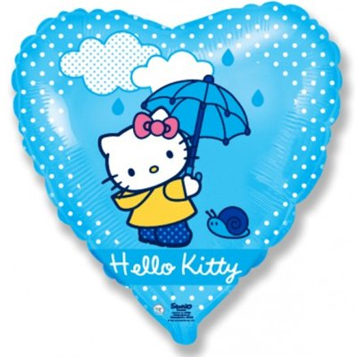 "Шар 18"" Hello Kitty с зонтом 1202-2039"