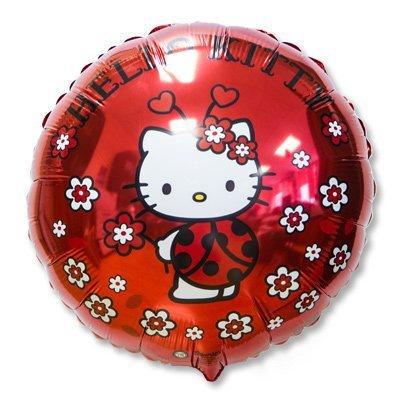 """Шар 18"""" Hello Kitty божья коровка 1202-2040"""