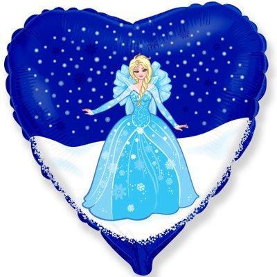 """Шар Ф 18"""" Принцесса в синем сердце 1202-2054"""