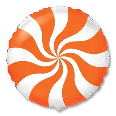"Шар 18"" конфета оранжевая 1202-2104"